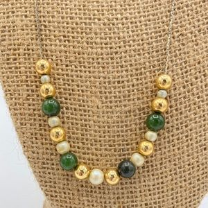 Stunning Chain Necklace w/Vintage Glass Beads